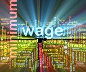 Minimum Wage Word Cloud Glowing