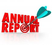 Annual Report Arrow Word Target Increased Business Profit Growth