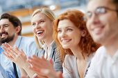 foto of applause  - Image of a business team applauding in the sign of approval - JPG