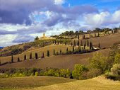 Tuscany hilly countryside