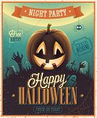 Happy Halloween Poster. Vector illustration.