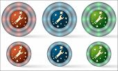 Set Of Six Icons With Spanner