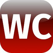 Wc Toilet Red Icon