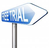 try now for free trial membership or product promotion gratis test version