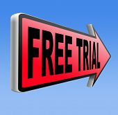 free product trial sample. Test new items here and now, limiter offer. Iroad sign arrow for promotio