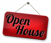 model house at open door for selling or buying real estate