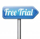 free trial membership or product promotion download and try no charges