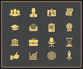Business career icons. Vector illustration