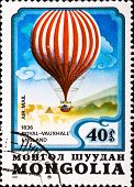 Postage Stamp Shows Air Balloon