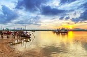 Sunrise at the river in Koh Kho Khao, Thailand