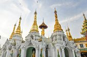 foto of yangon  - Little pagodas around Shwedagon Paya Landmark in Yangon Myanmar - JPG