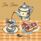 Teapot and cup english tea