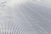Skiing Background - Fresh Snow On Ski Slope