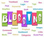 Blogging Colorful Stripes Keywords