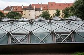 Castle Walls And The Greenhouse In Prague