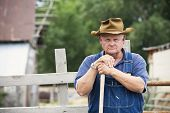 Frustrated Old Farmer Portrait