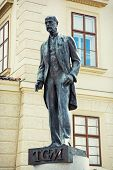stock photo of tomas  - Tomas Garrigue Masaryk statue in Prague Czech republic central Europe - JPG