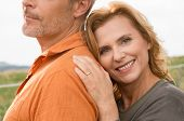 Close up Of Happy Mature Woman With Her Husband