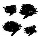 Set of Hand Drawn Grunge Bubbles