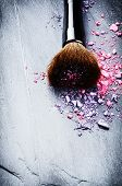 Makeup Brush And Crushed Eye Shadows