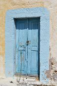 Old Door Of Ruined Home In Kefalos
