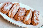 Appetizing Eclairs With Custard