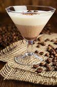 Chocolate And Vanilla Panna Cotta Close-up