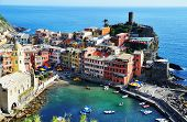 Traditional Mediterranean Architecture Of Vernazza, Italy
