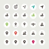 Set of isolated navigation icons