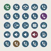 Set of telephone icons