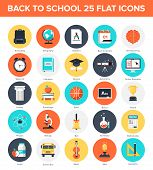 pic of time study  - Abstract vector collection of colorful flat education and knowledge icons - JPG