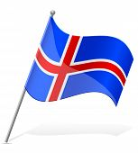 Flag Of Iceland Vector Illustration