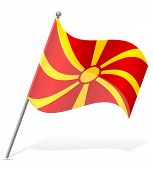 Flag Of Macedonia Vector Illustration
