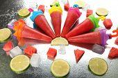 Watermelon ice-cream, close-up