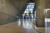 Modern Entrance Hall In Museum Of History Of Polish Jews In Warsaw