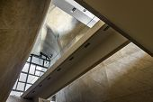 Futuristic Vault In Museum Of History Of Polish Jews In Warsaw