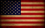 picture of usa flag  - Usa flag on grungy paper vintage style - JPG