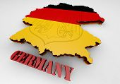 Map Of Germany With Flag