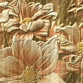 Flower Stone Relief Background