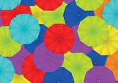 Colorful Umbrella Abstract Background