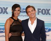LOS ANGELES - SEP 8:  Jessica Lucas, Kevin Zegers at the 2014 FOX Fall Eco-Casino at The Bungalow on September 8, 2014 in Santa Monica, CA