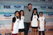 LOS ANGELES - SEP 8:  Sam, Berry, Graham Elliot, Natalie, Sean at the 2014 FOX Fall Eco-Casino at Th