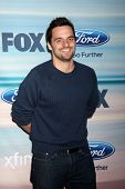 LOS ANGELES - SEP 8:  Jake Johnson at the 2014 FOX Fall Eco-Casino at The Bungalow on September 8, 2