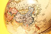 stock photo of longitude  - Close up of a  old vintage globe - JPG