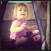 Adorable little baby with instagram effect