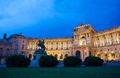 Hofburg Imperial Palace At Night, Vienna
