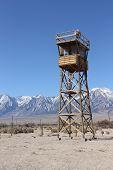 Guard tower at Manzanar National Monument