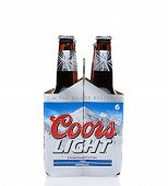 Coors Light Six Pack End View
