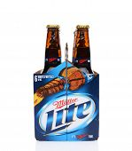 Miller Lite Six Pack End View