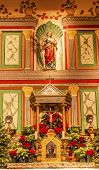 Old Mission Santa Ines Solvang California Basilica Altar Cross Agnes Statue At Christmas